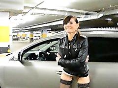 Jeny Smih at car parking