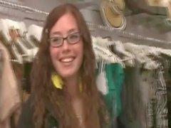 CFNM femdom babes in change room see cumshot