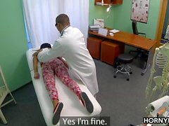Patient enjoys doctor's cock