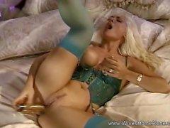 Blonde Slut Wife Home Alone