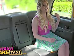 FemaleFakeTaxi Posh blondes lesbian encounter