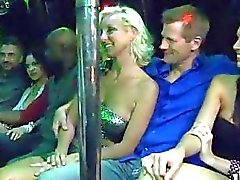 Bunch of horny swingers massive orgy in the Boom Boom room