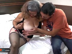 Agedlove fat granny Brenda fucked doggystyle