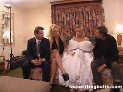 Braut-zu-sein eine böse Gesicht bekam