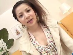 AmateurRika Koizumi loves cum dripping her throat