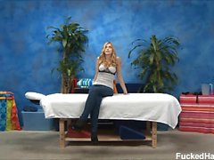 Abigaile seduced and fucked hard by her massage therapist.