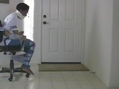 tape escape Sasha Bound and Gagged in chair