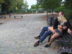Ravishing Martina gets screwed in the park