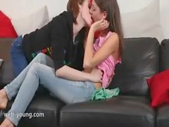 two incredible lesbians with dildo