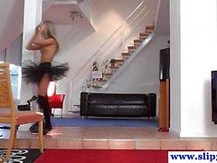 Amateur ballerina teens threeway with oldies