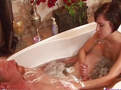 Super Skinny Teen Babe Kelly Klass Soapy Mass