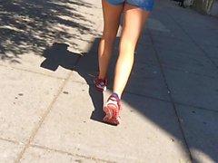 Blue Lycra Shorts