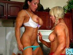 Denise Masino - I kissed Lisa Cross - Female Bodybuilder