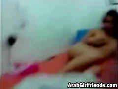 Tight Arab pussy gets fingerfucked