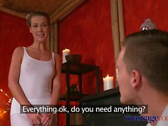 Massage Rooms Young workman is seduced