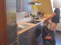 aus Leder Geschlechts in der Küche