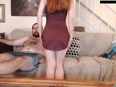 Striptease teen girl di Redhead
