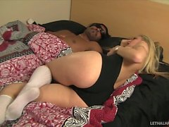 Pornstar Natasha wake up boyfriend handjob