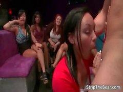 Sexy brunette slut goes crazy sucking