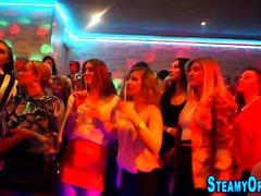 Cfnm teeny blows stripper