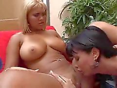 Busty Tranny Penetrates Titty Blonde Whore