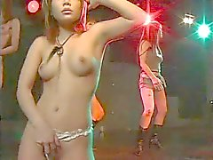 seksikäs Japanin disko tease gogo tanssin