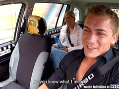 Czech Blonde Rides TaxiDriver in the Backseat