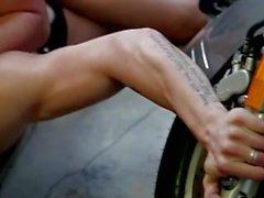 Heta motorcykeln fotofor