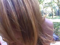 Gorgeous young latina slut gets her ass licked and fucked outside in the woods