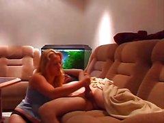 german blonde handjob her boyfriend