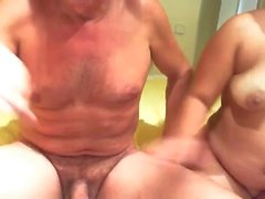 Mature couple enjoys 69 position oral pleasures in homemade