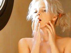 Shaving of beautiful 18yo blonde cunt