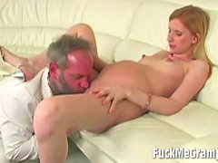 Dirty Old Perv With Preggo Blonde