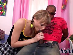 Hot interracial session with kinky Alin