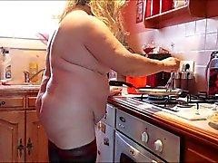 Naked Brenda is cooking