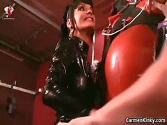 Kinky Carmen and her redhead friend get part2