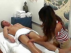 Dirty sex scene replaces usual massage for a boy