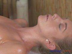 Massage Rooms Young blonde lesbians finger fuck with orgsamic results