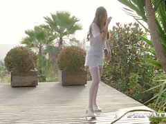 private Teen maid does DP