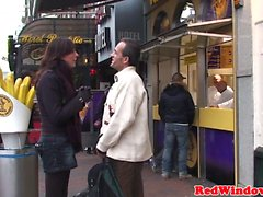 Bigtitted amsterdam hooker sucking before sex