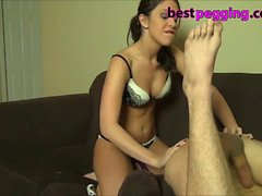 Amateur Wife Strapon Pegs her Husband