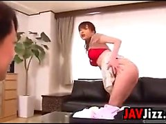 Japanese MILF Sucks On A Cock And Gets Cum