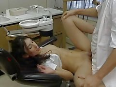 Nasty sexy girl seduces her dentist