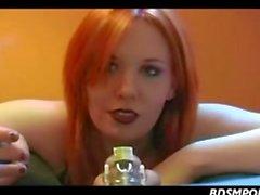 Femdom redhead smoking over a coc dates25com