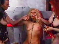 Chained Roped And Titty Clamped