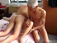old man enjoy with women