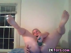 Thick Girl Masturbating With Bottles
