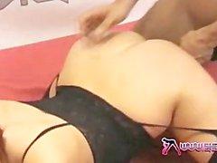 Shebang.TV - Busty Yuffie Yulan gives smokey blowjob and makes him cum