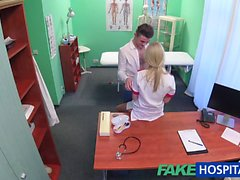 FakeHospital Studs cock makes sexy nurse cum
