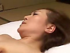 Japanese asian mature handles dick